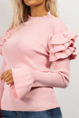 baby pink ribbed jumper