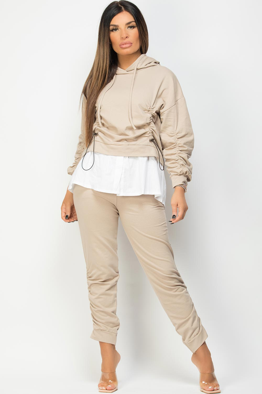 ruched loungewear set