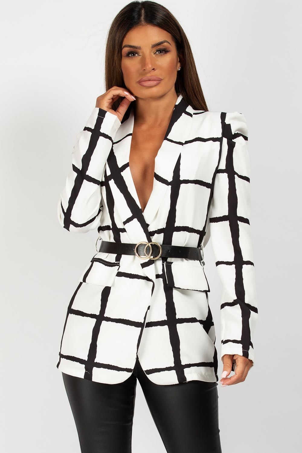 puff sleeve blazer on sale