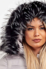 big fur hooded puffer coat womens