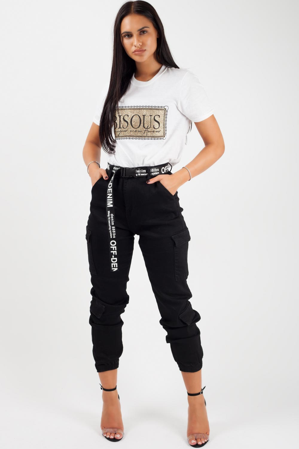black cargo trousers womens uk