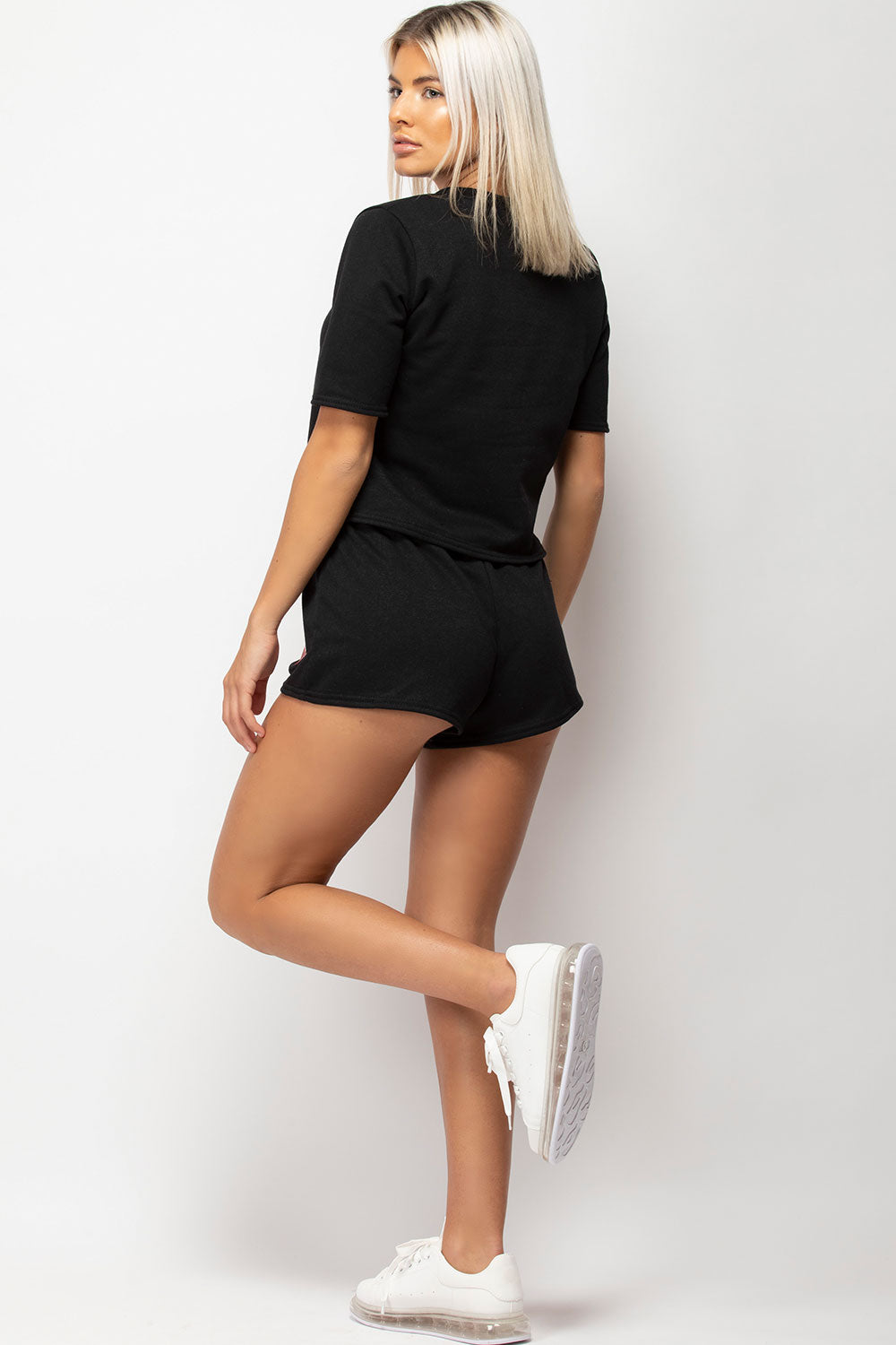 crop top and shorts co ord set