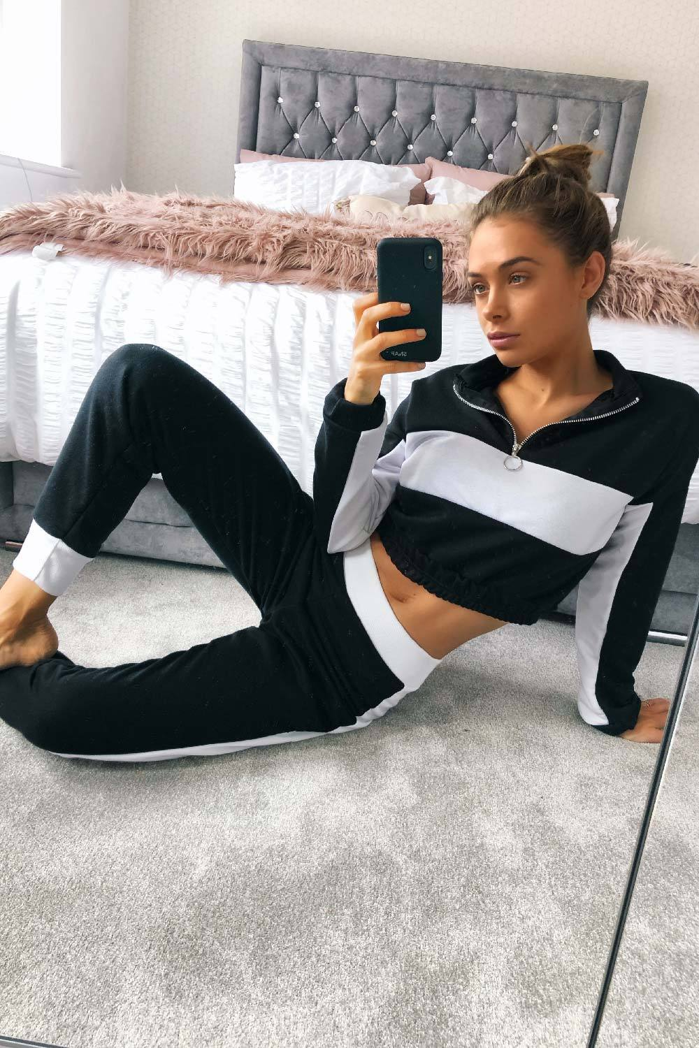 cropped tracksuit womens