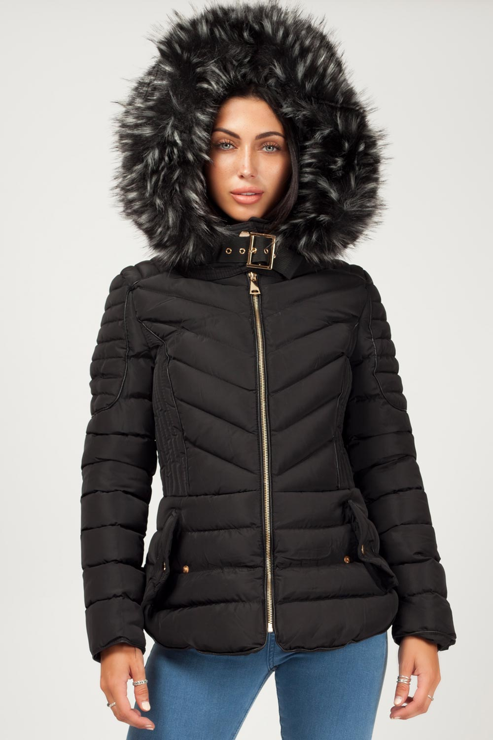 black zara womens coat