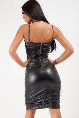 faux leather bodycon dress uk