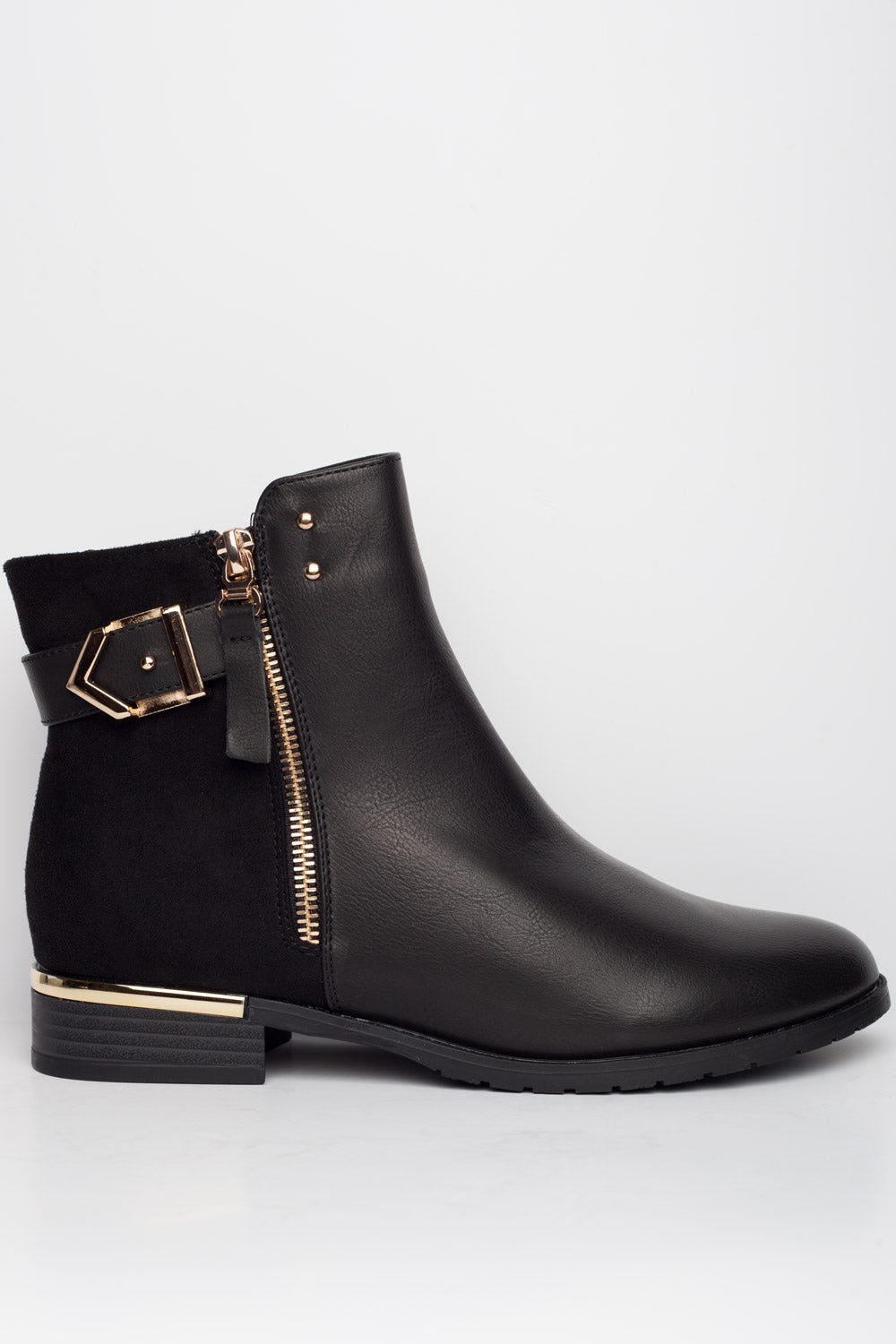 black ankle boots