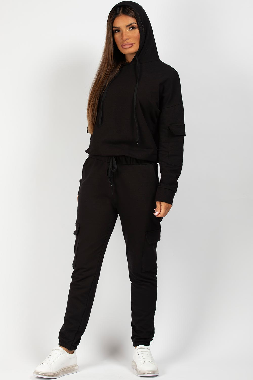 black oversized loungewear set