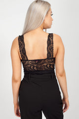black lace crop top uk