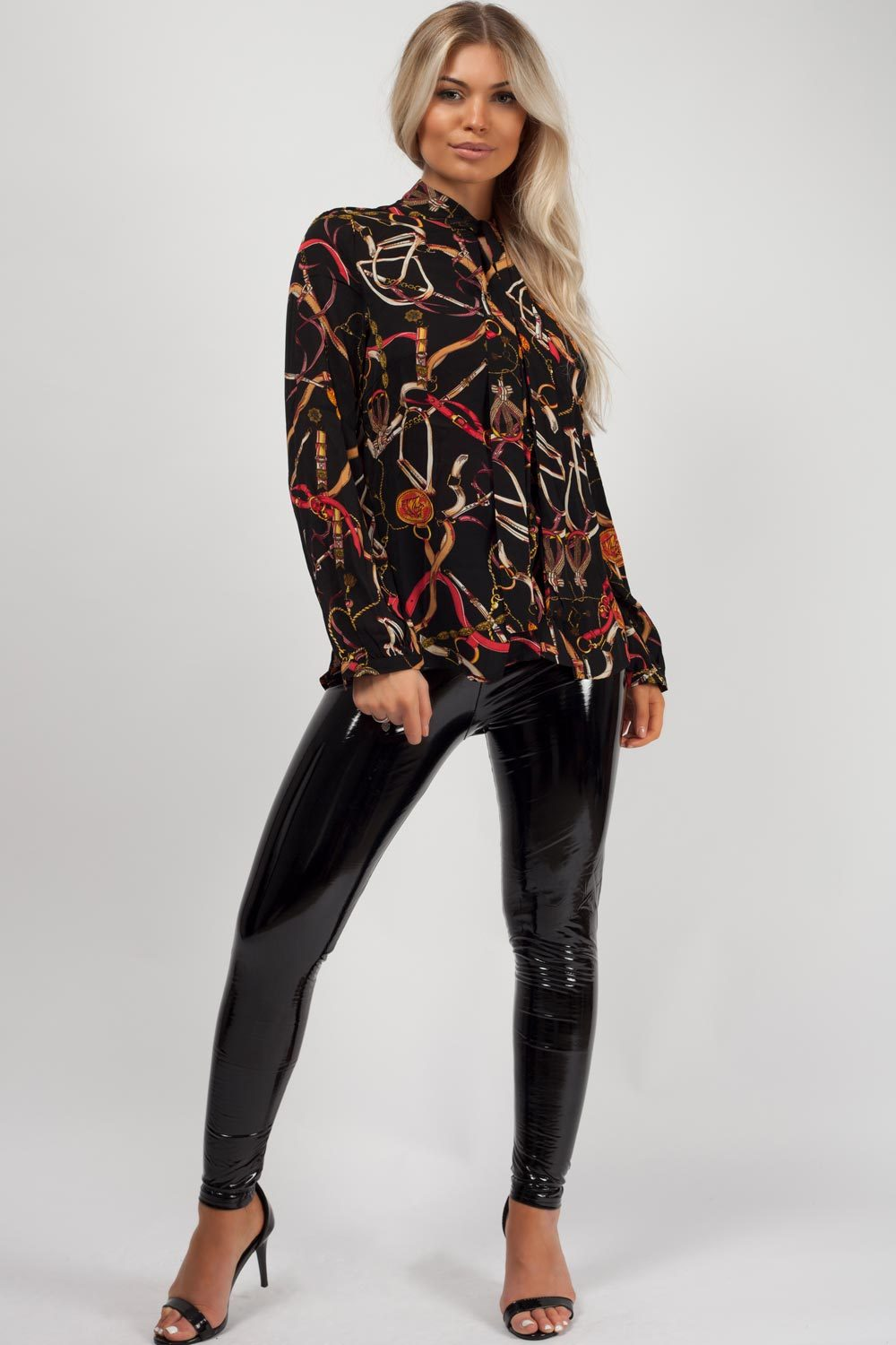 chain print blouse uk