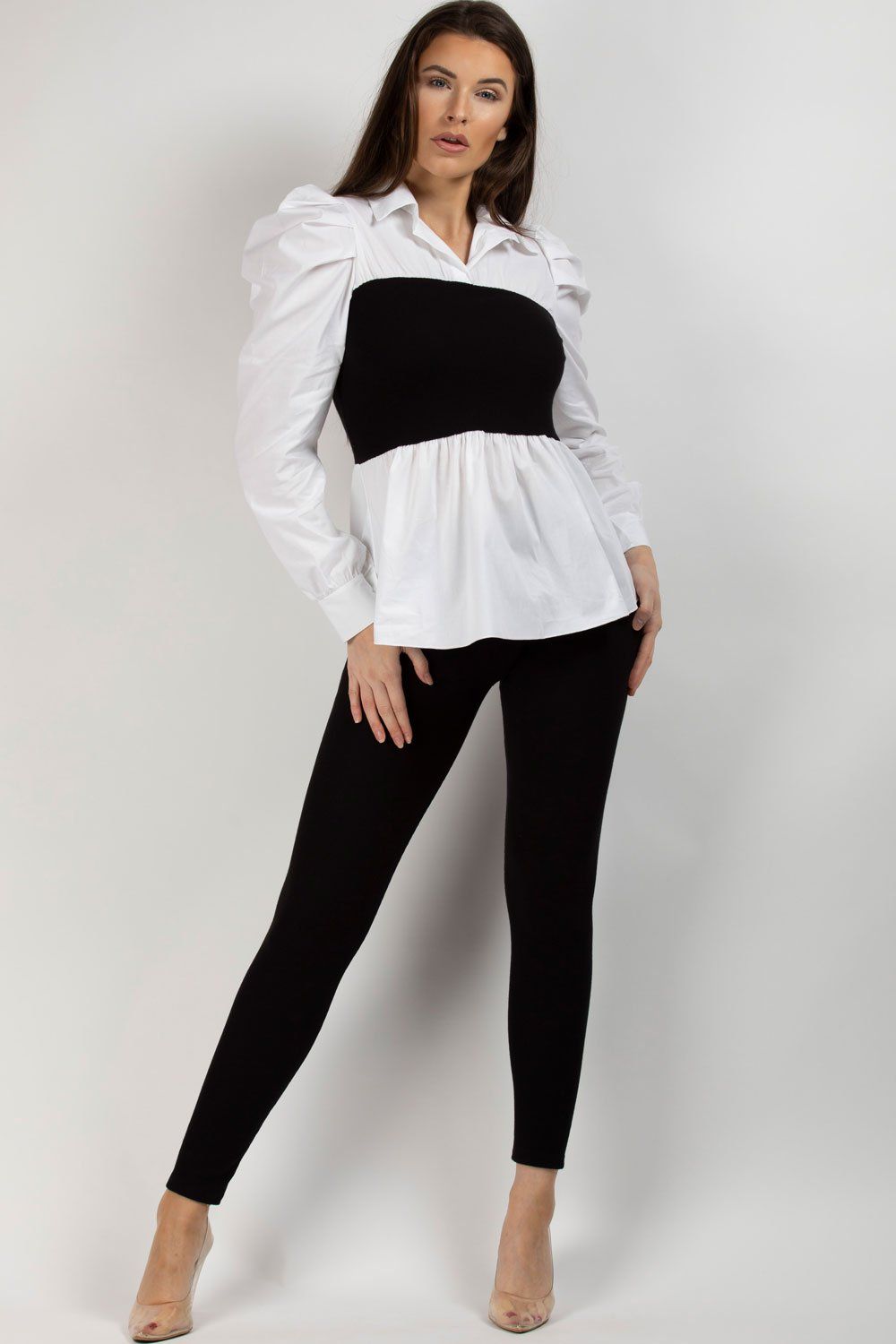 ribbed shirt and leggings co ord