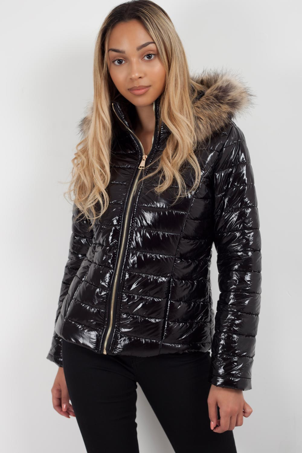 fur hood puffer jacket styledup fashion