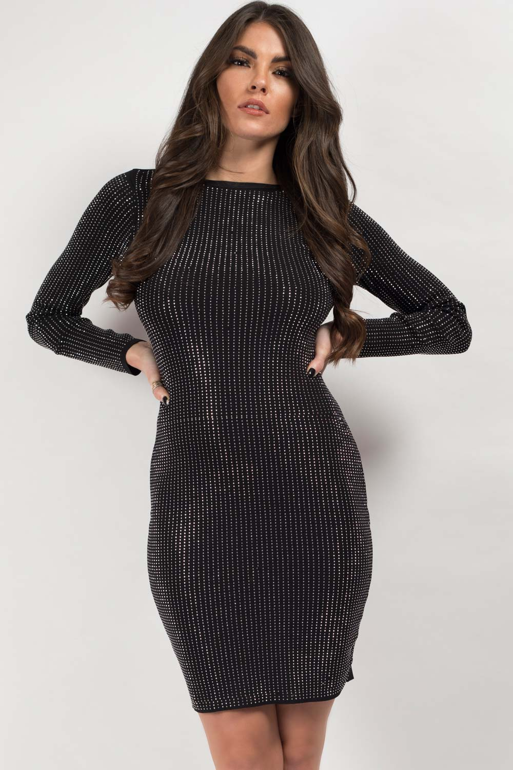 black sequin dress on sale uk