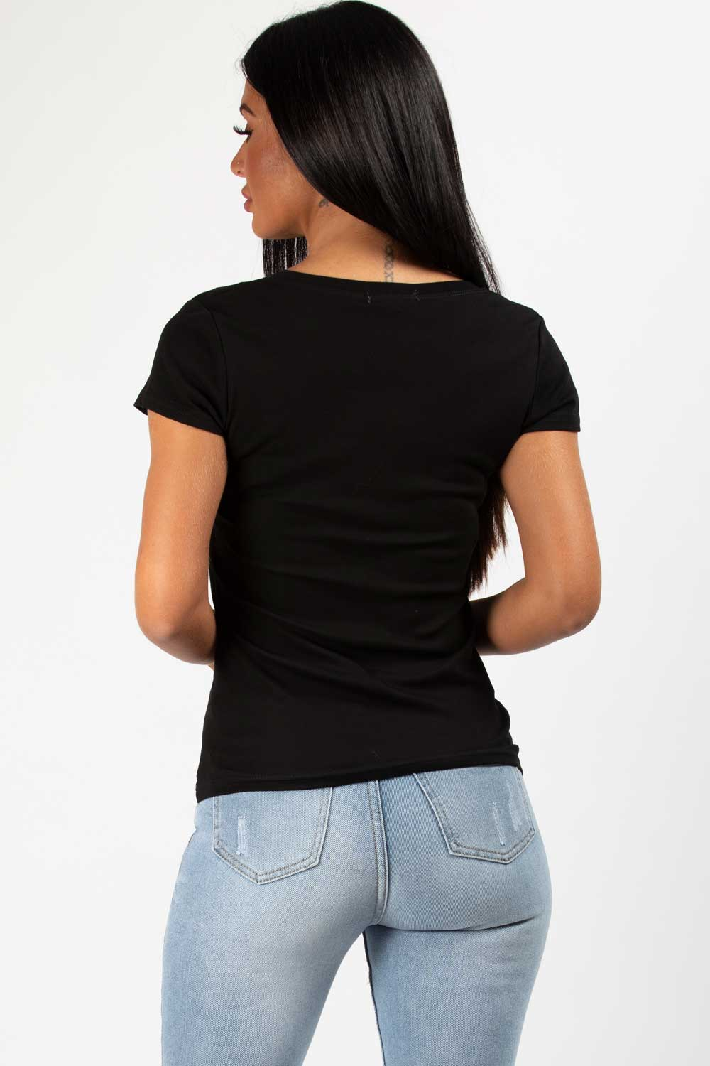 womens black t shirt