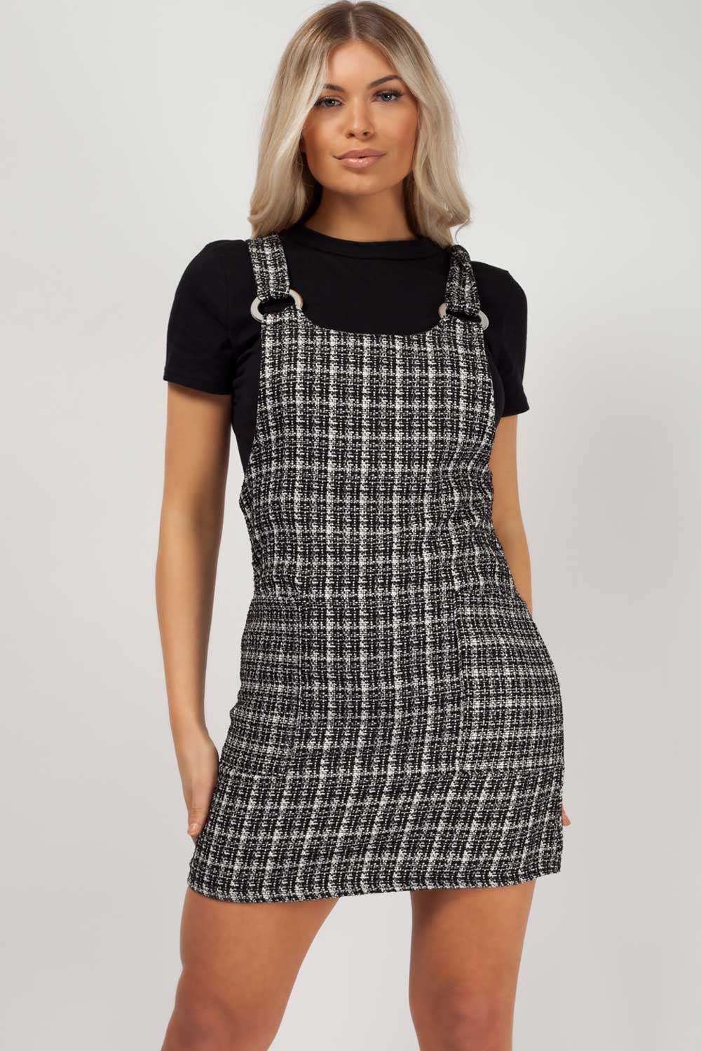 pinafore dress black styledup fashion