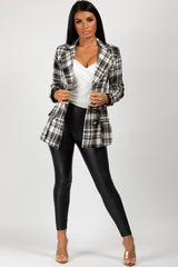 monochrome double breasted blazer womens