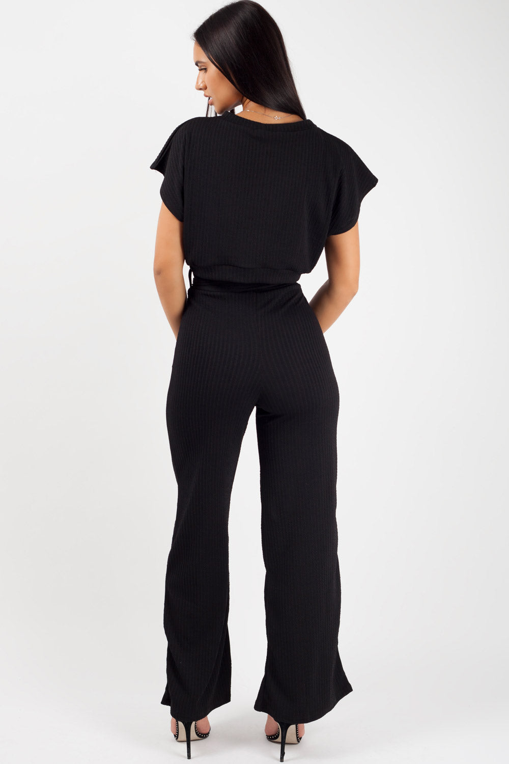 women's loungewear set black