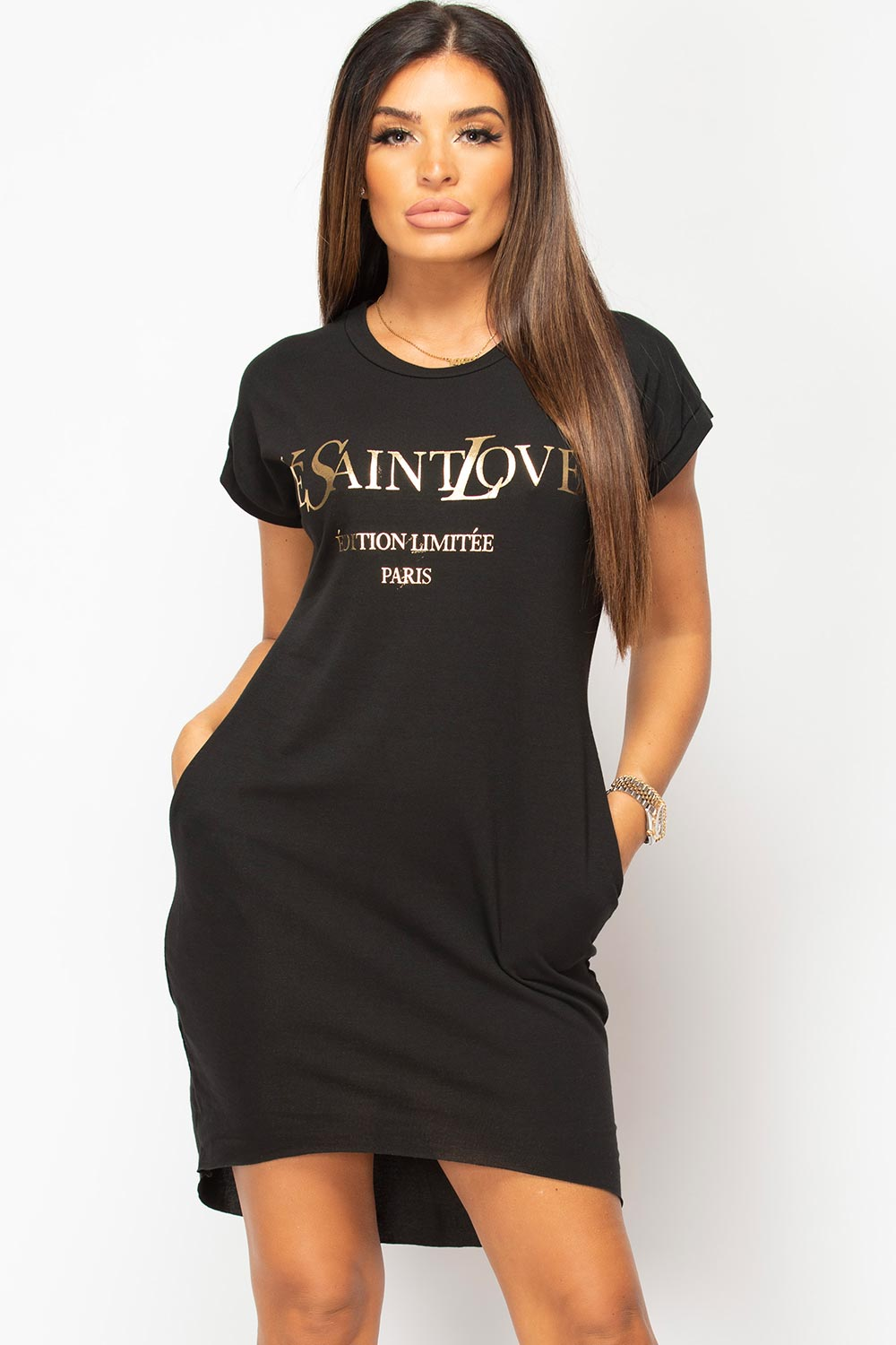 ye saint love slogan t shirt dress uk