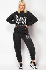 ye saint west slogan loungewear set