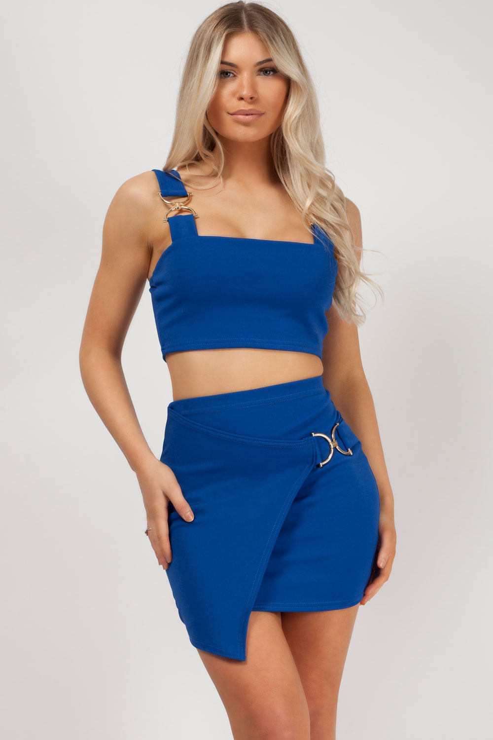 royal blue co ord set