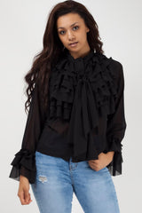 black ruffle blouse styledup fashion