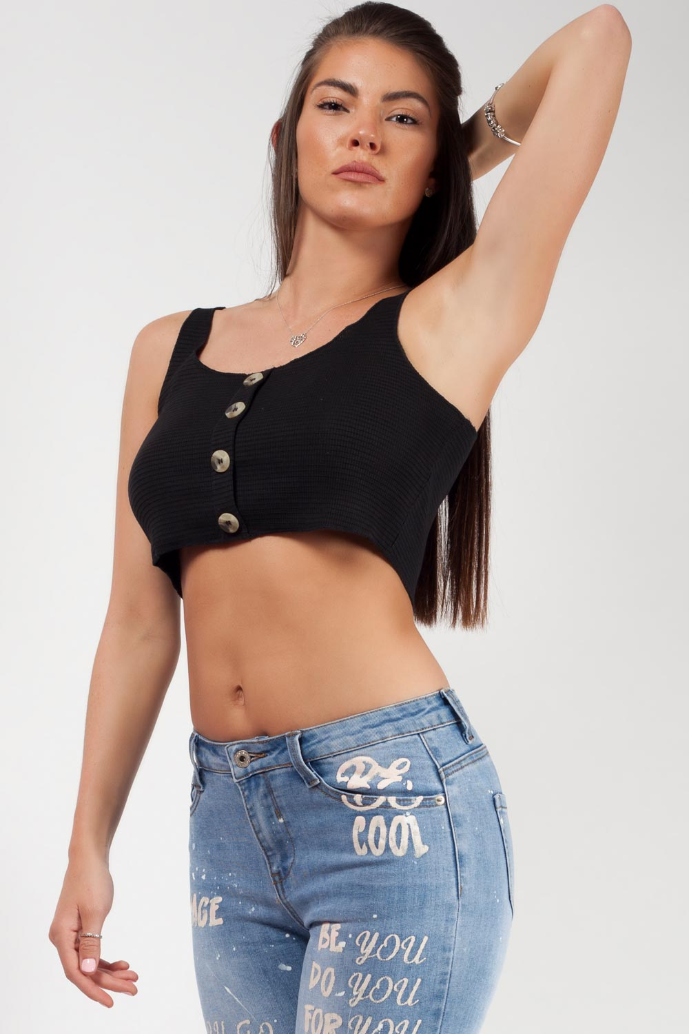 black summer crop top