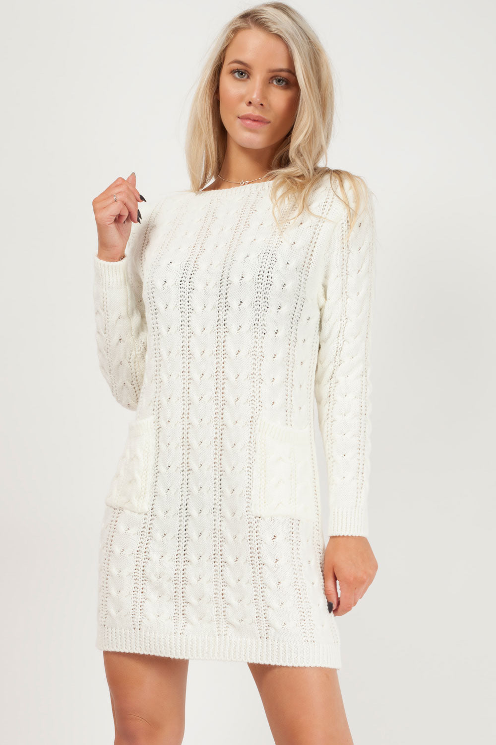 womens jumper cream