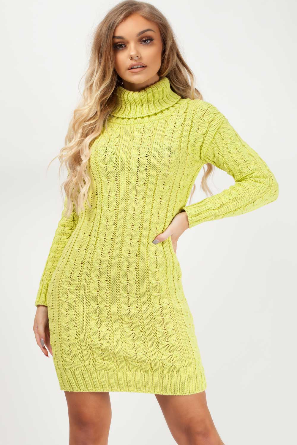 cable knitted dress