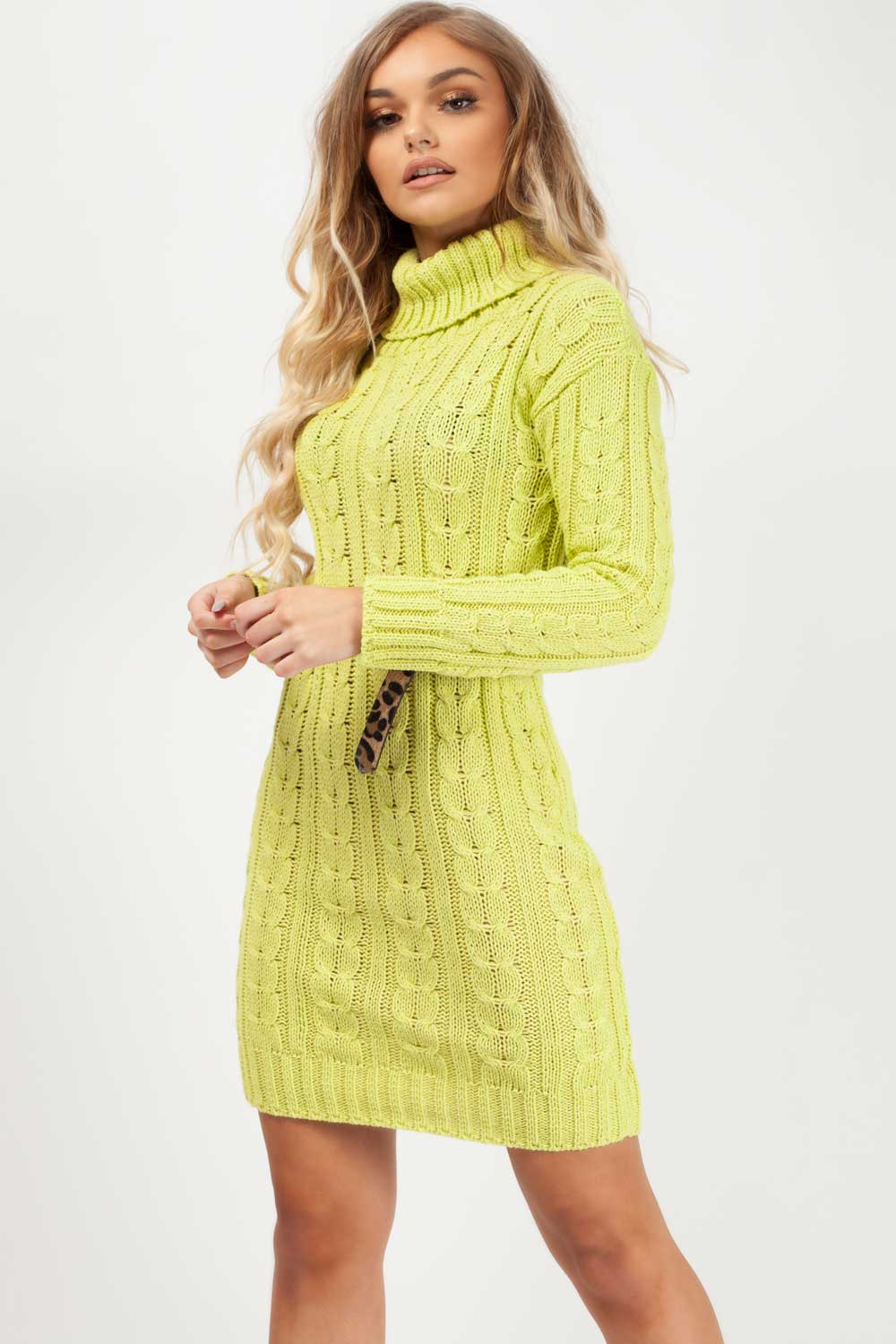 jumper dresses womens lime green