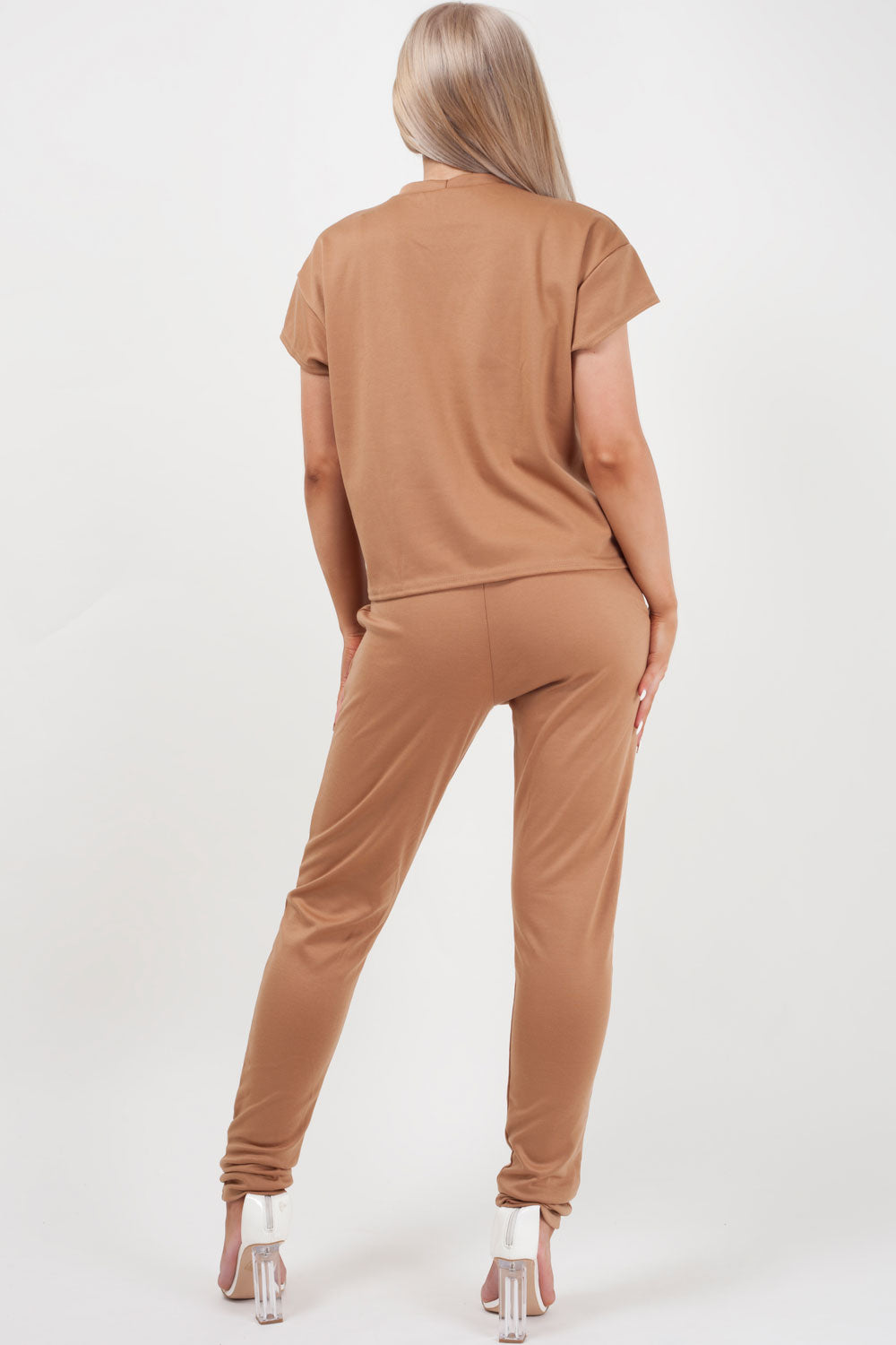 camel loungewear set