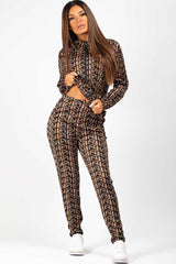 loungewear co ord set camel