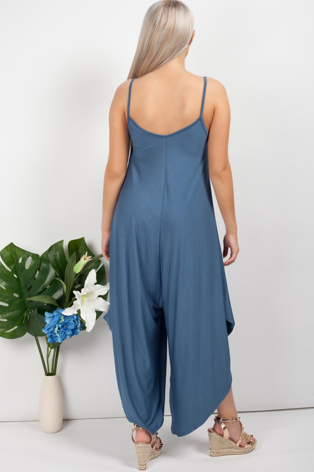 Harem Jumpsuit Denim Blue