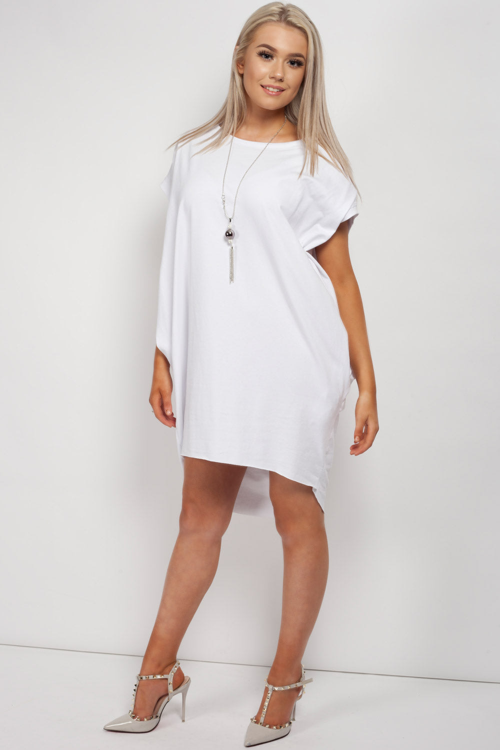 made in italy oversized top white