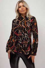 chain print shirt womens