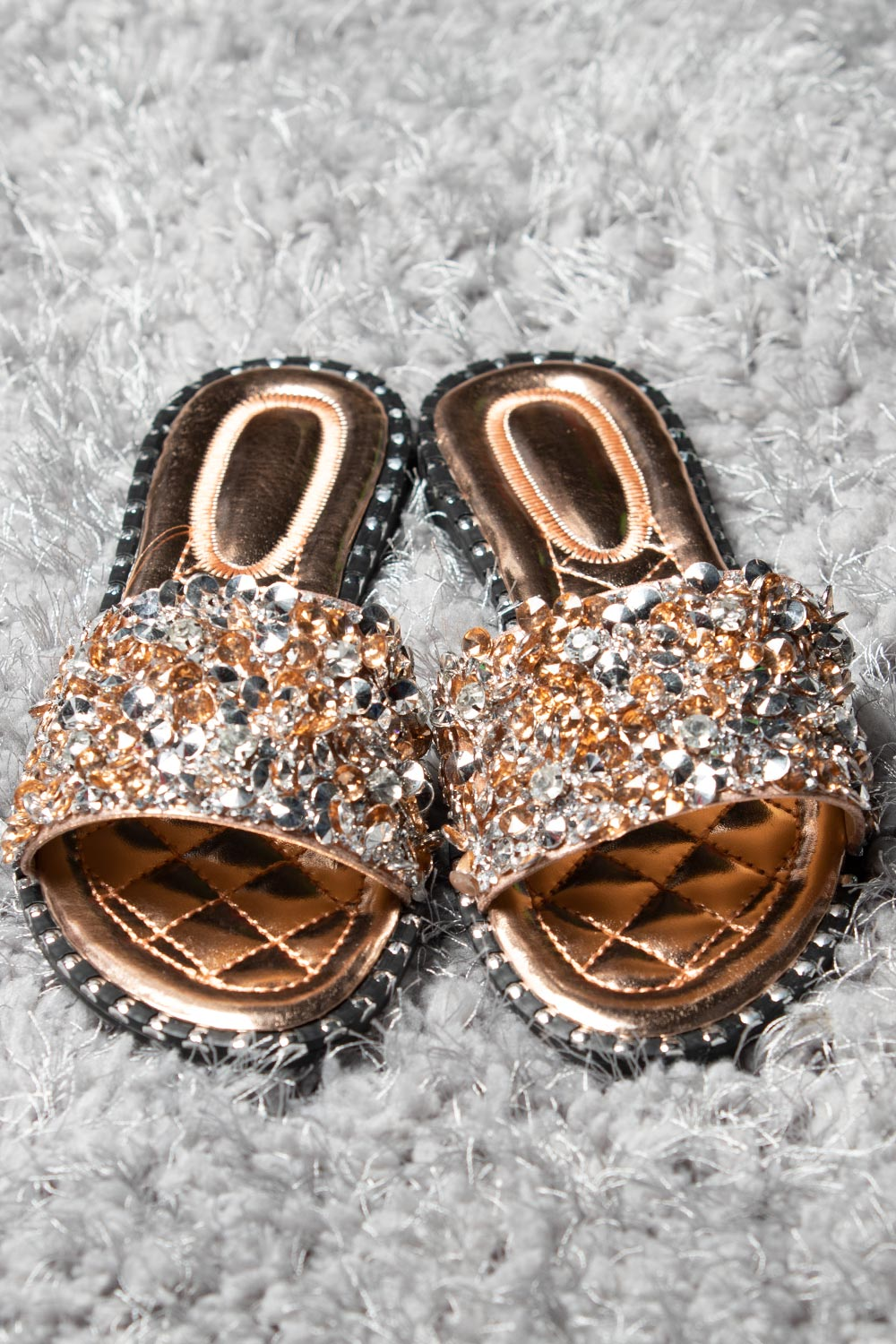 diamante sliders champagne