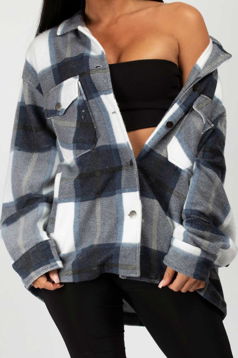 check oversized jacket womens