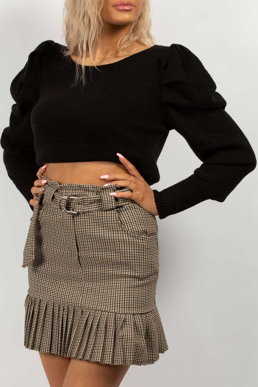 puff sleeve dressy jumper black