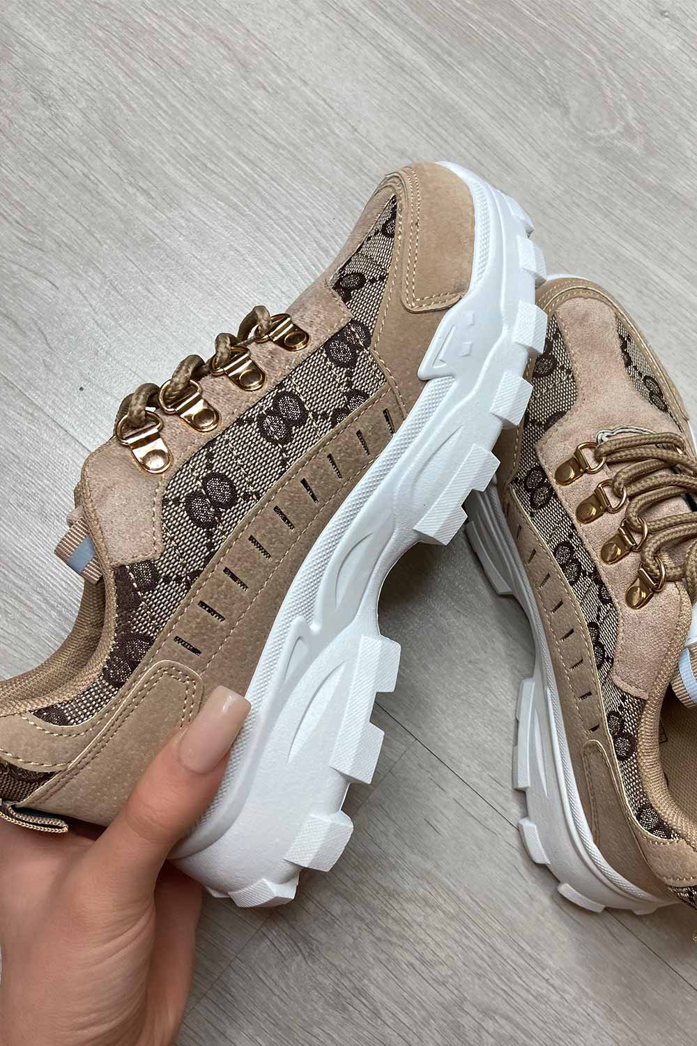 womens gucci inspired chunky trainers