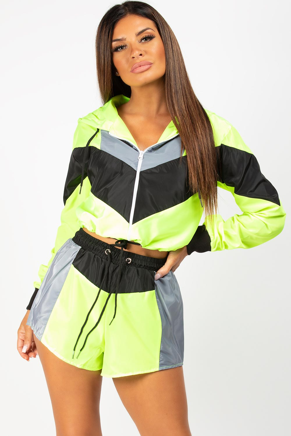 shell suit neon green
