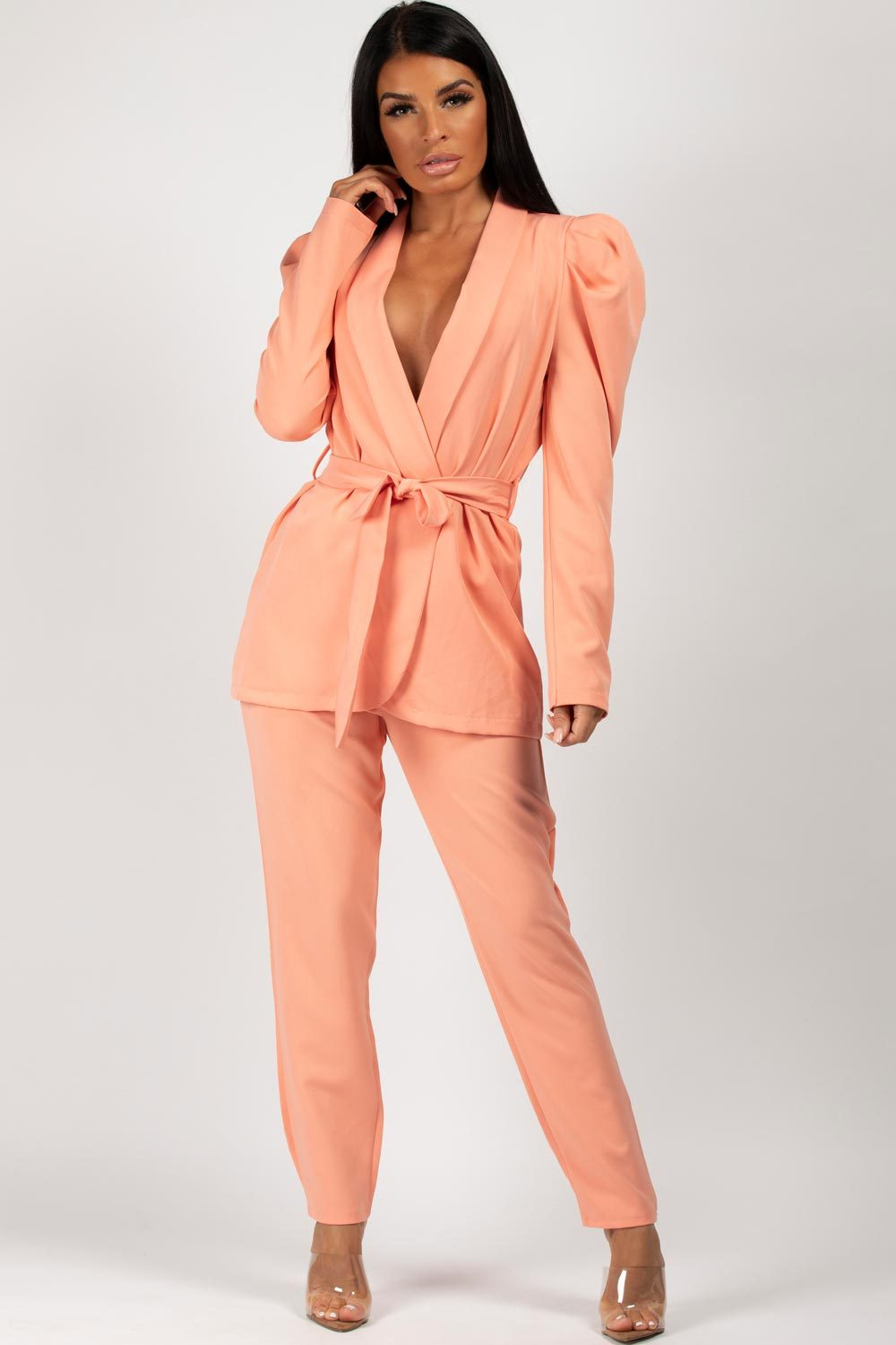 blazer and trousers two piece set women