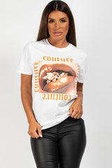 couture t shirt white