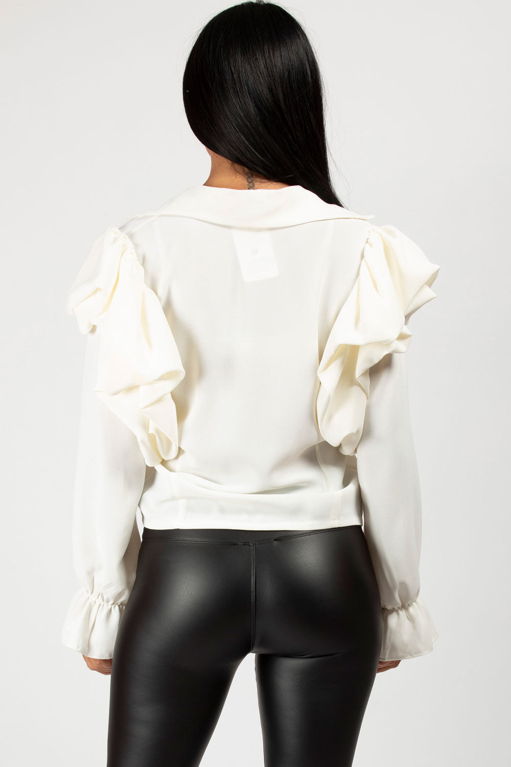 cream puff sleeve blouse