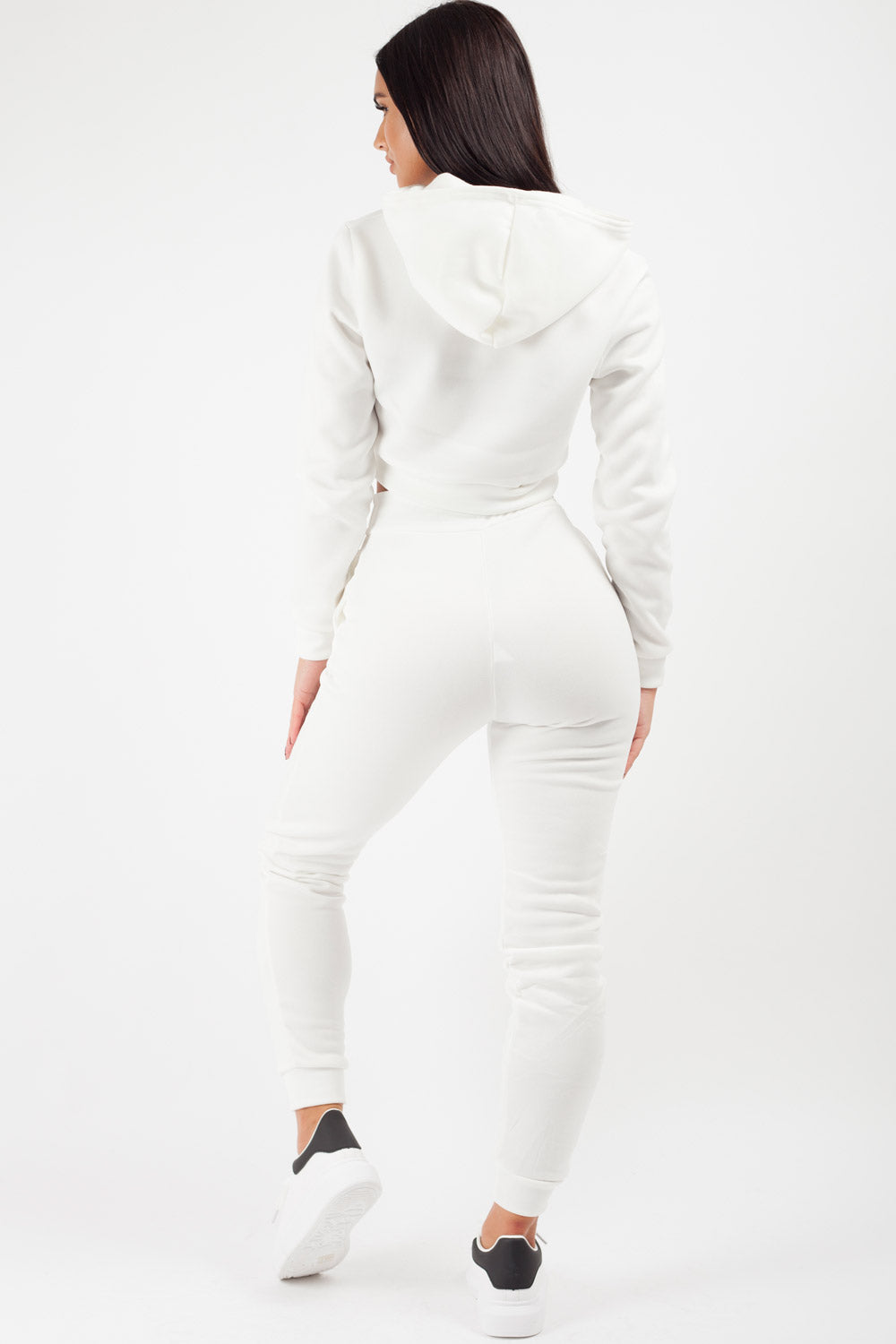 hoodie and joggers co ord set cream