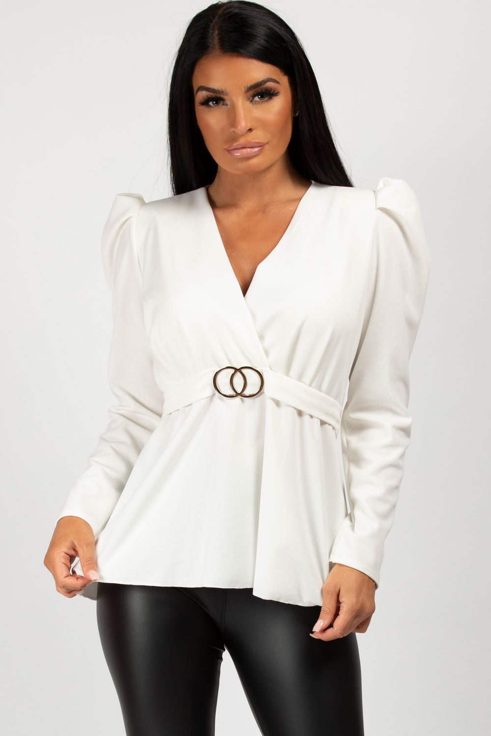 Puff Sleeve Double Circle Top