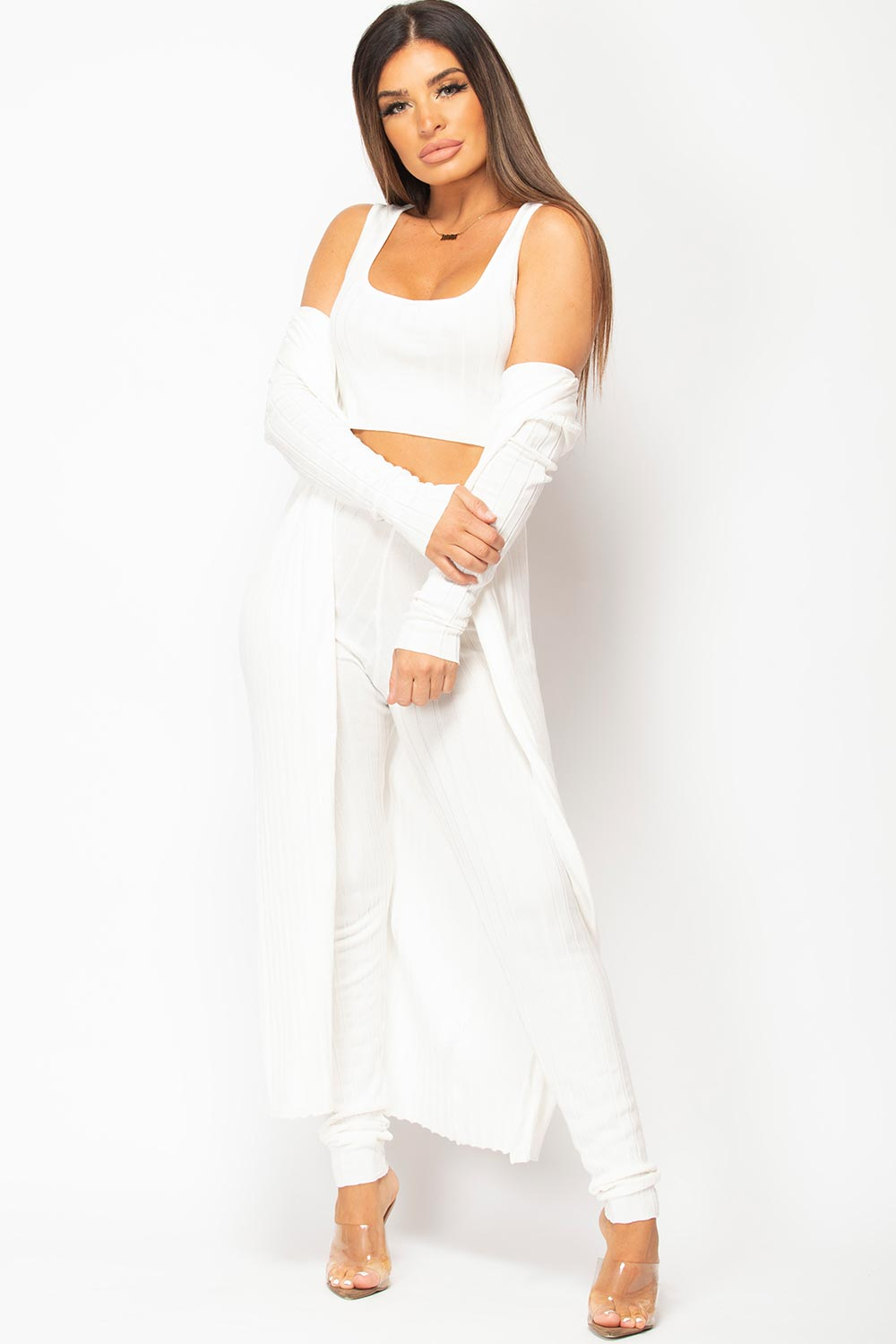 three piece knitted loungewear set