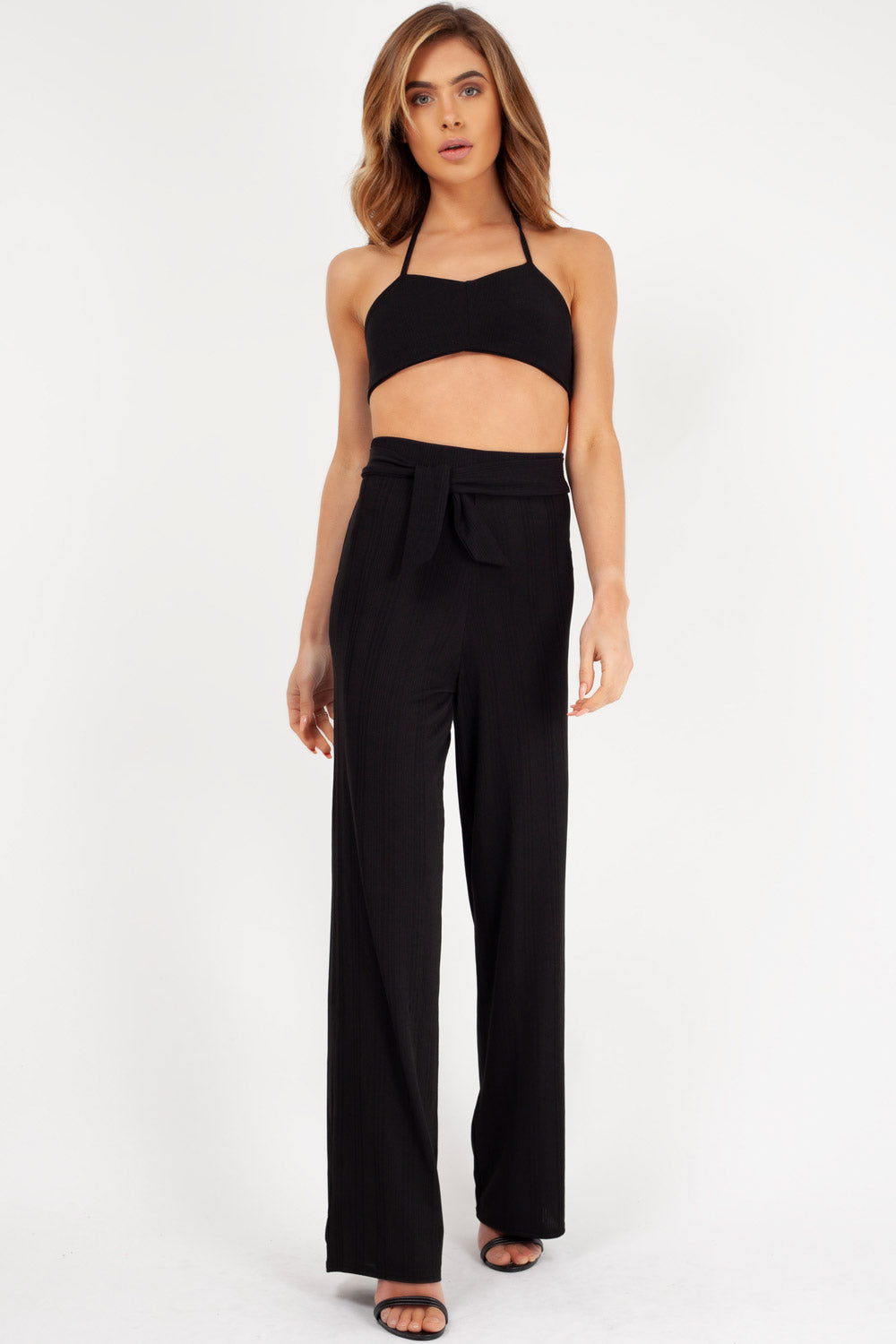 trousers and crop top two piece set uk styledup fashion