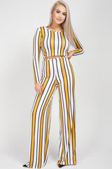 yellow stripe co ord set