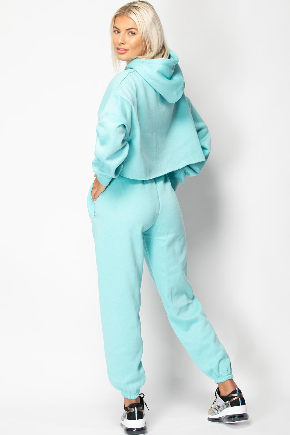 turquoise loungewear set womens
