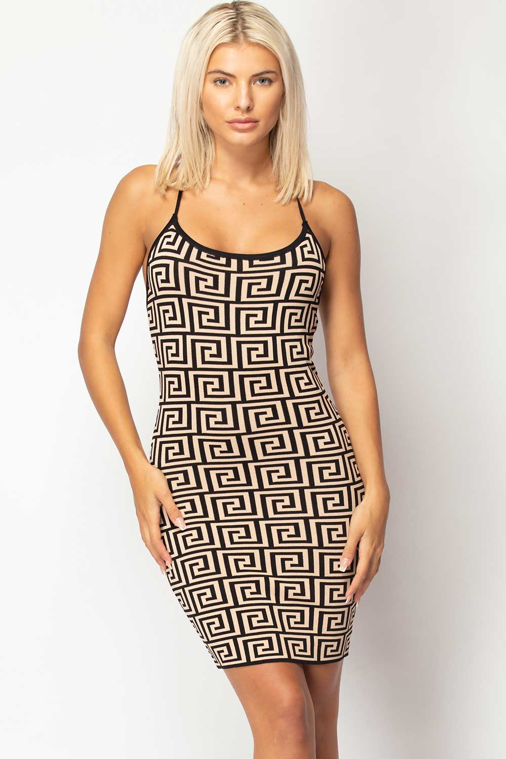 fendi inspired bodycon dress