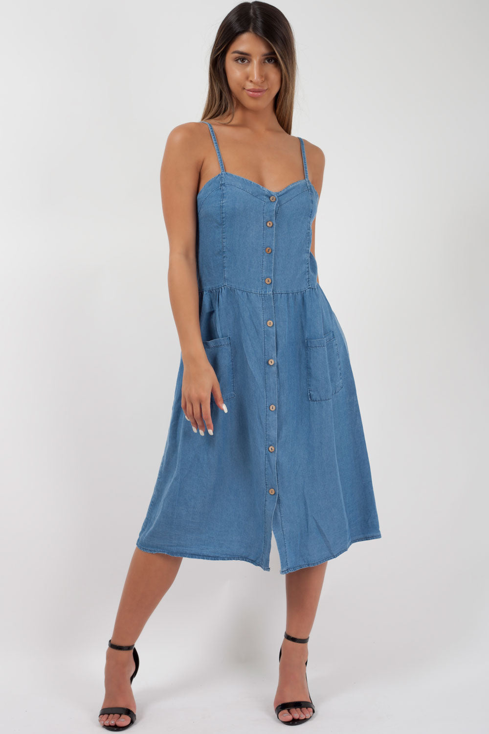 denim skater dress styledup fashion