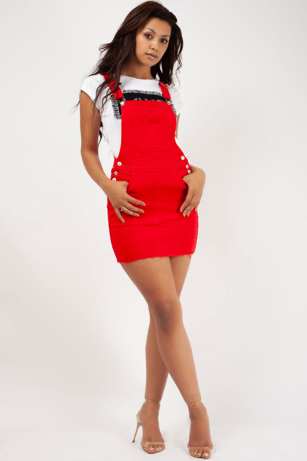 pinafore dress red styledup fashion